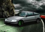 Honda CR-X SiR by D3516N3R
