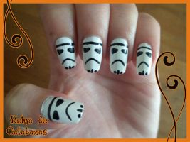 Stormtroopers nail art by anubis-pumpkinqueen
