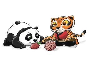 Baby Po and Cub Tigress by ViralJP