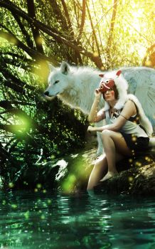 Mononoke and Wolf by Bell-hime