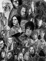 Lord of the Rings Fan Collage by HarrisonOdell