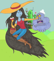 Marceline and LSP by NickyVendetta