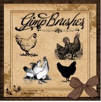 GIMP Brushes | Chicken Brushes by TheAngeldove