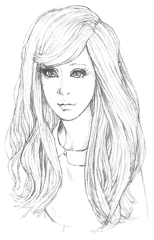 Ball Jointed Doll Portrait Sketch by CitrusCupcake