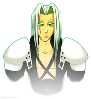 Sephiroth Waist-Up by ZeroWiseman