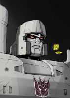 Caliber316's Megatron Colored by hiredhand