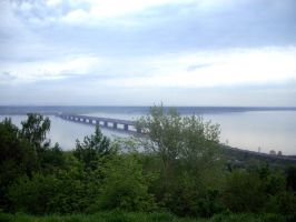 Ulyanovsk. Imperial bridge. Volga. by MashaTrollins