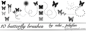 Butterfly Brushes by Mareni