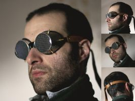 mister the fly -  steampunk goggles by dear-dead-ofelia