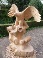 eagle with salmon in progress9 by woodcarve