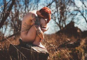 Nude Tattoo Girl by MS-Photographie
