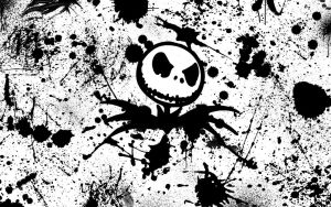 Jack Skellington splatter by ConceptJunkie124