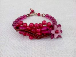 Bracelet with flower by Mirtus63