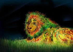 Rasta lion by raxata