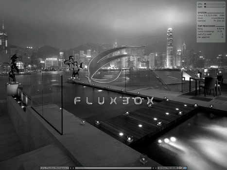 Fluxbox on Crunchbang Linux by ElderVLaCoste