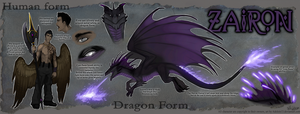 Ref Commission: Zairon by Serpentwined