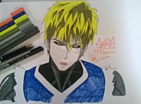 One Punch Man: Genos by FrillianPuspaD