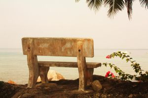 Stone Seat and Tropical Views by Redkas