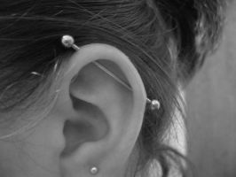 Industrial Piercing by firexcrotch91