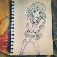 Fan art of Chitanda by kimitos-drawing