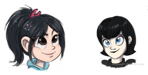 Vanellope and Mavis - Sketch by FEuJenny07
