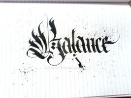 Balance Calligraphy Sketchbook vol.1 by Milenist