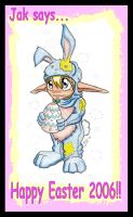 Jak in an Easter Bunny suit. by Yakow