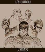 BATMAN SKETCHES 01 by neurowing