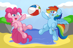Beach Buddies by LyricBrony