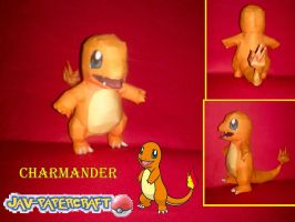download charmander papercraft + build by javierini