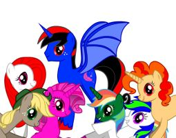 Me and My Mane 6 by Anfrisiojunior