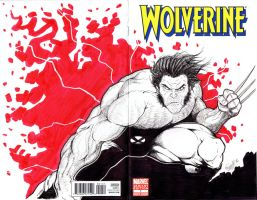 wolverine Sketch cover by renecordova