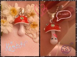 Toadstoolie necklace by Kawaiidelicious-club