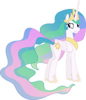 Princess Celestia Grinning (3) by 90Sigma