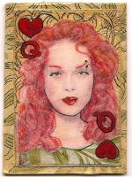 ATC Queen of Hearts by claudiamm37