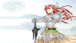 Erza Scralet Winter Wallpaper 2 by ng9
