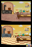 New Paper Mario Screenshot 027 - The kitchen by Nelde