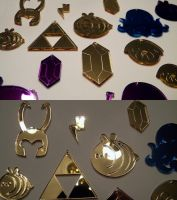 Laser Cut Charms by pronouncedyou