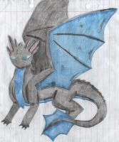 5) Sketch of a little dragon (anime) by Magicull-Delesia