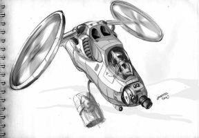 Futurist Assault Helicopter by Rodys