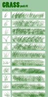 Grass Bruses Pack1 CS4 by dollyolly1