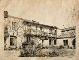 House Preignac old paper by nicolasjolly