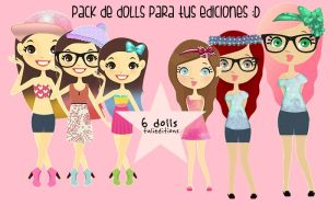 +Pack de dolls by TuliEditions