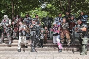 Dragoncon 2014 Gears of War group by cimmerianwillow