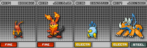 Fakemon 034 to 037 by Noctalaty
