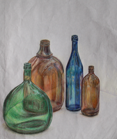 Colored Bottles by LilioTheOne