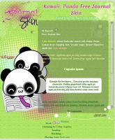 :Kawaii: Panda Free Journal Skin by Anysayuri