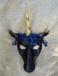 Black Unicorn Mask by merimask