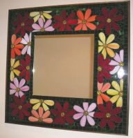 Floral Mirror by Mystic-Mosaics
