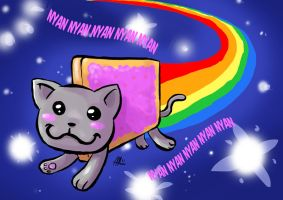 Nyan cat fanart by MarisaArtist